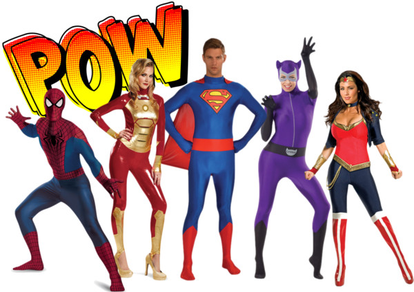 Polyvore - Superhero Skinsuits