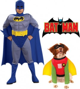 Polyvore - Pet and Owner Batman and Robin