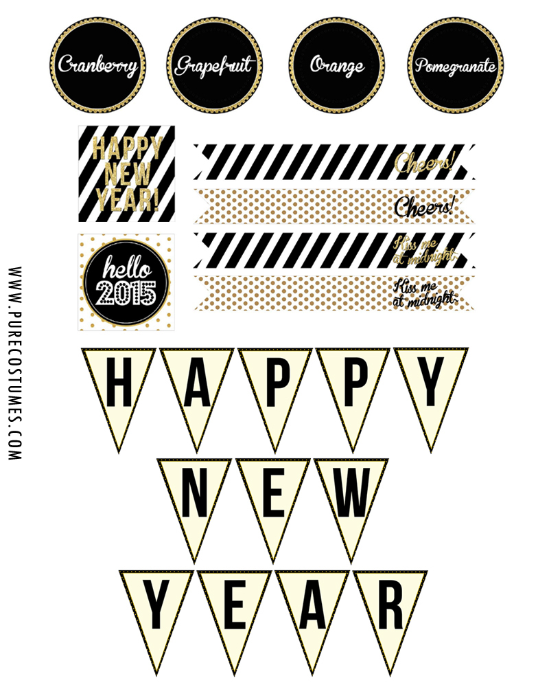 diy new year's eve champagne bubbly bar Free New Year's Eve Party Printables