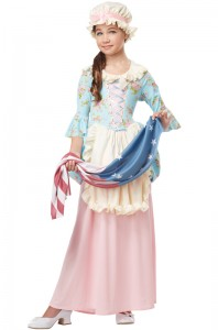 00431_Betsy Ross Colonial Lady Child Costume