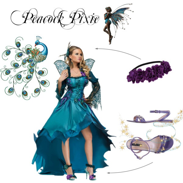 What to wear renaissance faire fantasy costume ideas polyvore peacock pixie solutioingenieria Gallery