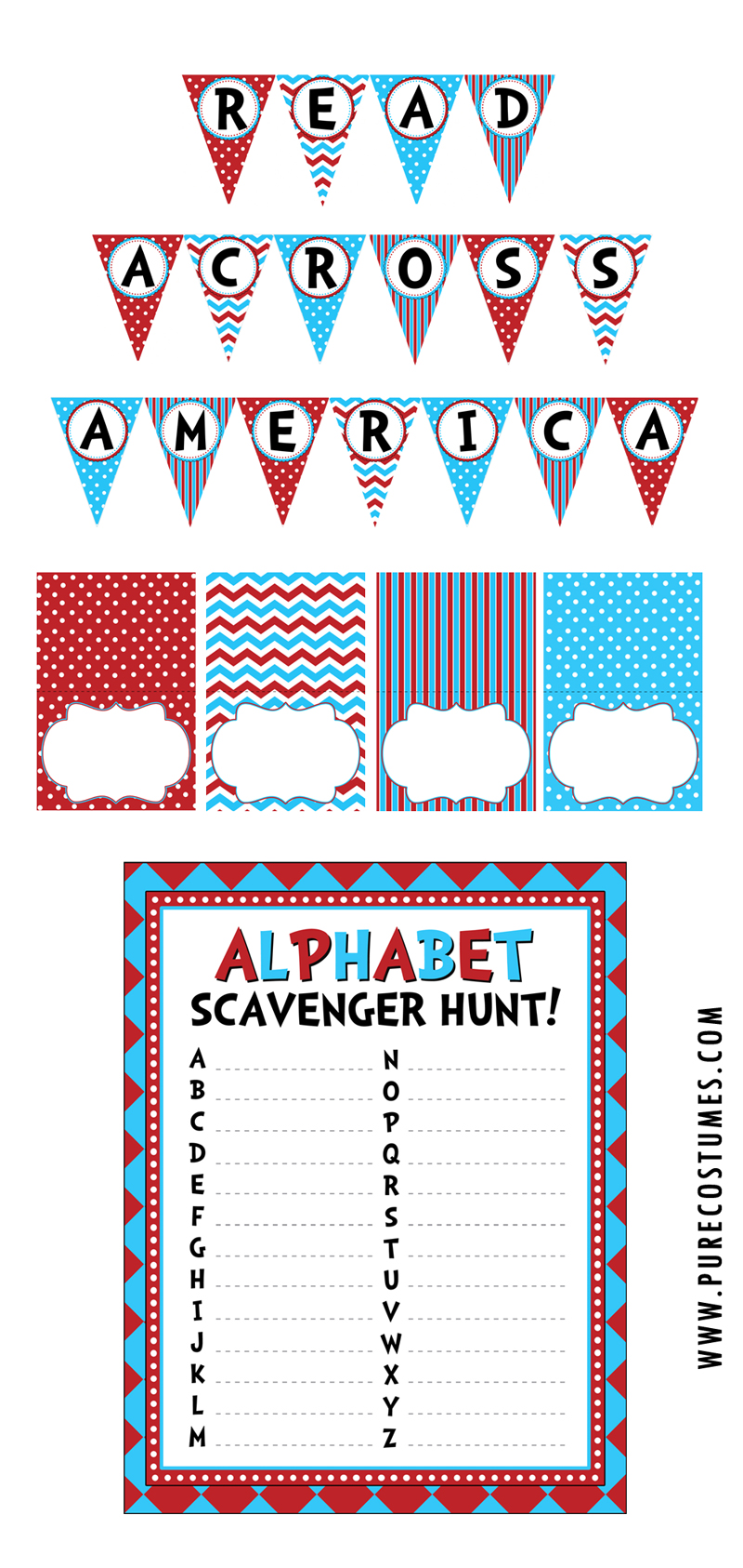 Read Across America Printable Banner (Part 1)