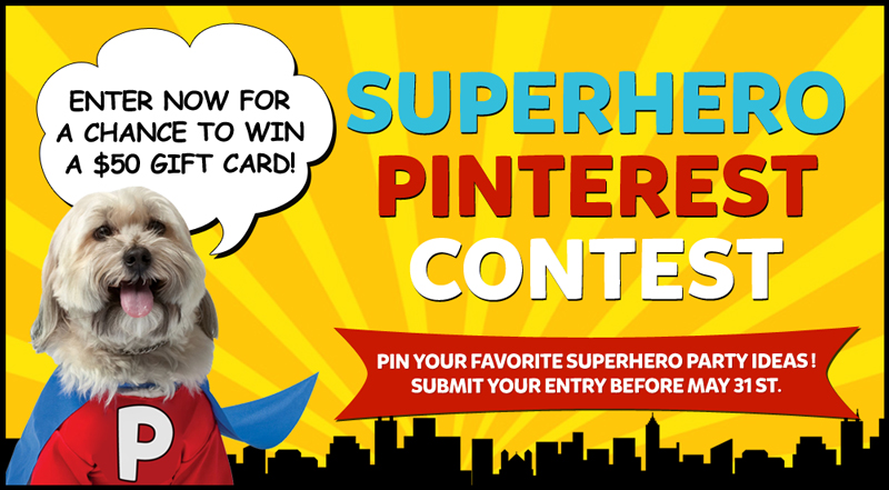 Pin to Win - Superhero Party Contest