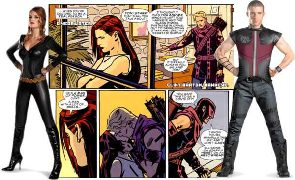 Couples Costumes - Hawkeye and Black Widow