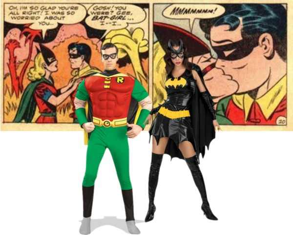 Couples Costumes - Robin and Batgirl
