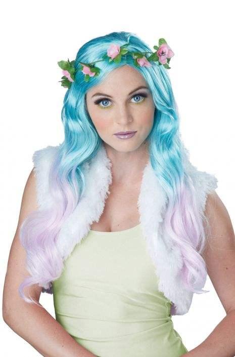 Floral Fantasy Wig (Blue Lavender)