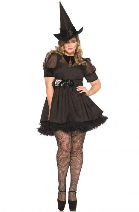 Plus Size Black Witch Costume |Plus Size Halloween Costumes Witch