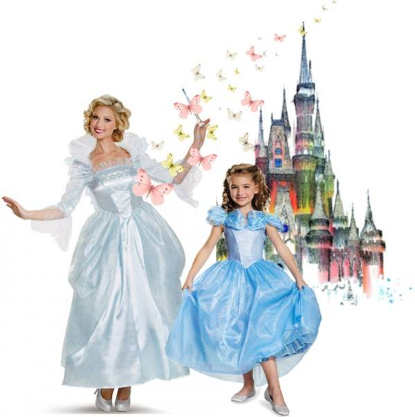 Mom and Daugther Costume Ideas_Cinderella