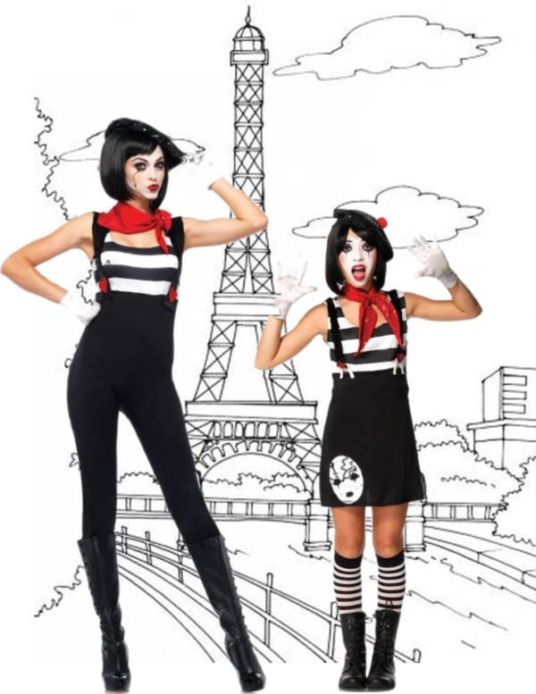Mom and Daughter Costume Ideas_Mimes