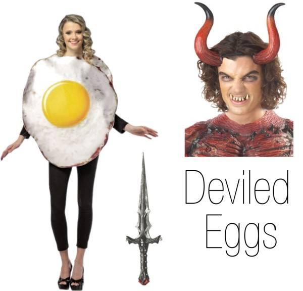 Pun Costume Ideas - Deviled Egg