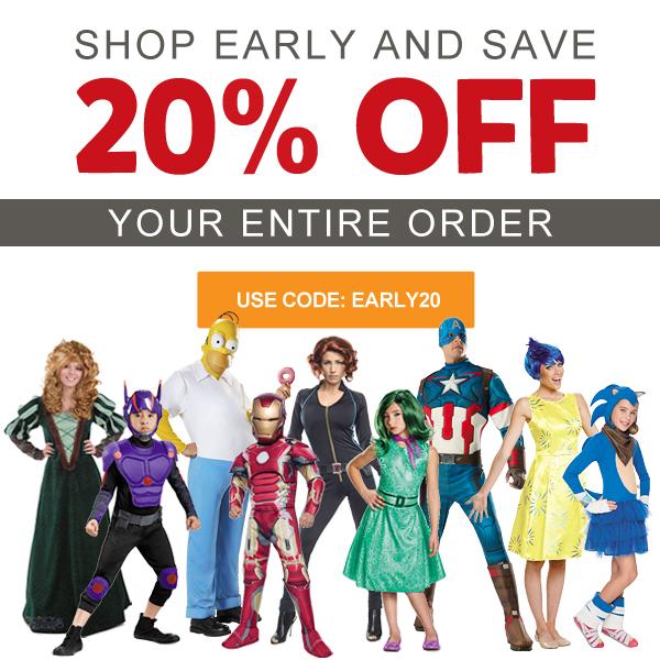 Early Bird Sale - Halloween Costumes