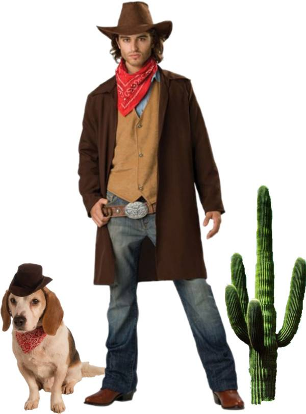 Pet and Owner Costume Ideas Cowboys