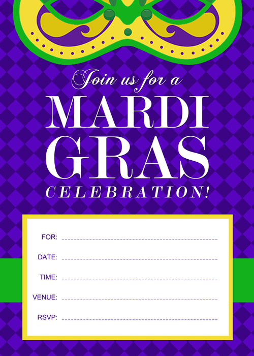 printable mardi gras invitation