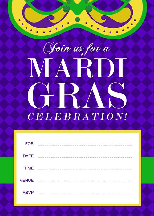 Mardi Gra Invitations with beautiful invitations design