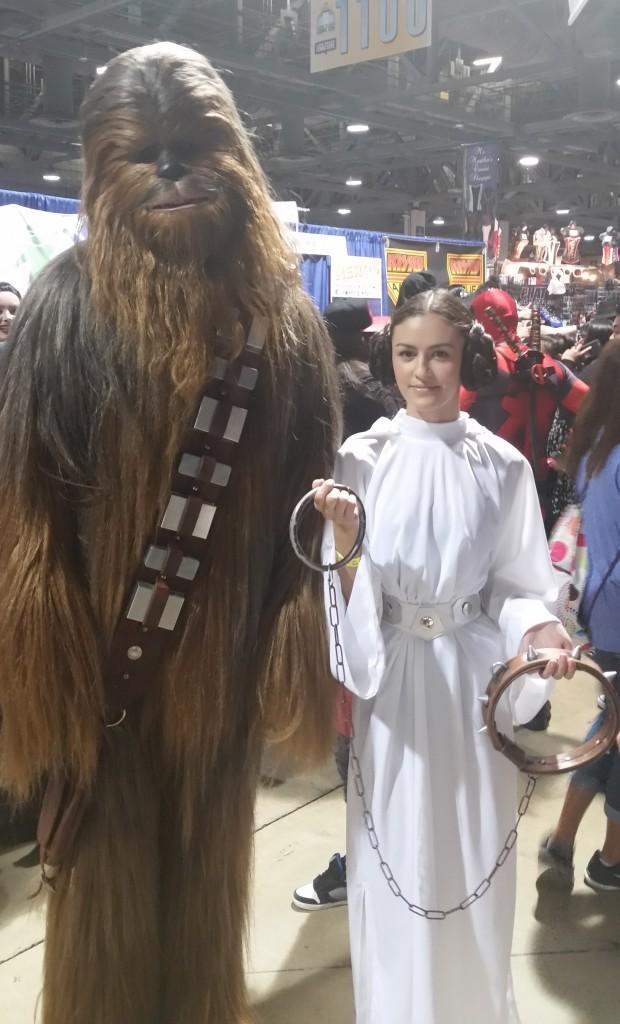 Chewbacca and Princess Leia Cosplay