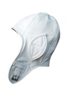 White Leather Aviator Hat