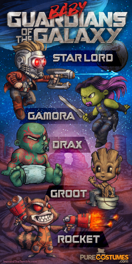 Infographic Baby Guardians of the Galaxy