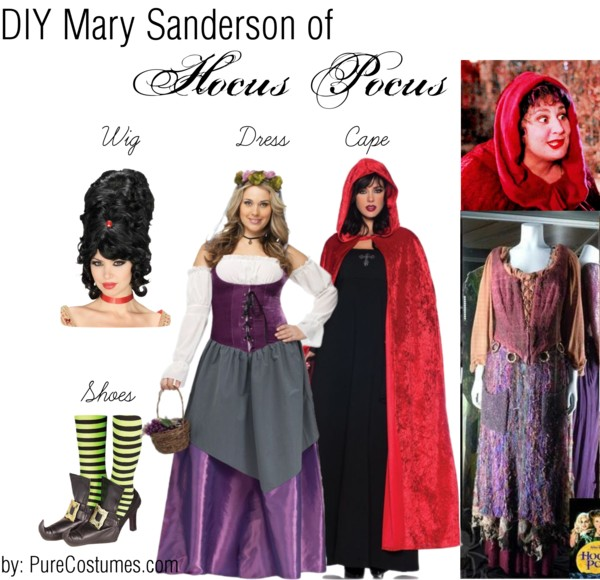 diy mary sanderson sister cisplay from hocus pocus