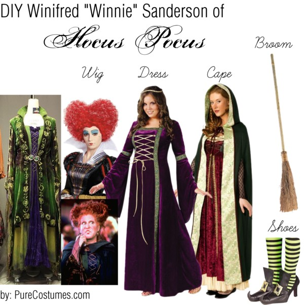 diy winifred winnie Sanderson Sisters Cosplay from Hocus Pocus