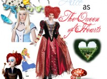 alice red queen of hearts Disney Heroes Dressed as Villains princesses