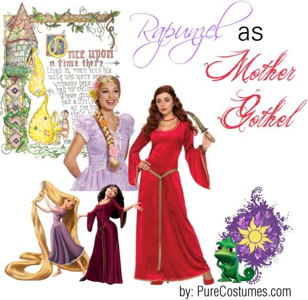 rapunzel mother gothel Disney Heroes Dressed as Villains princesses