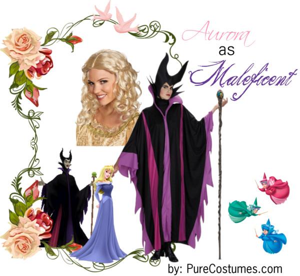 sleeping beauty aurora maleficent Disney Heroes Dressed as Villains princesses