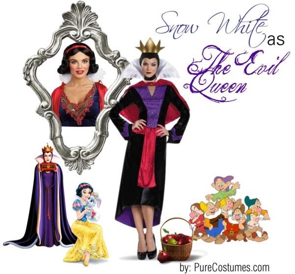 snow white evil queen Disney Heroes Dressed as Villains princesses