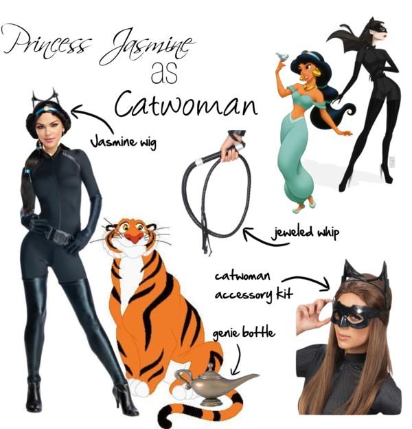 Jasmine as Catwoman Disney Superhero Mashups Villains