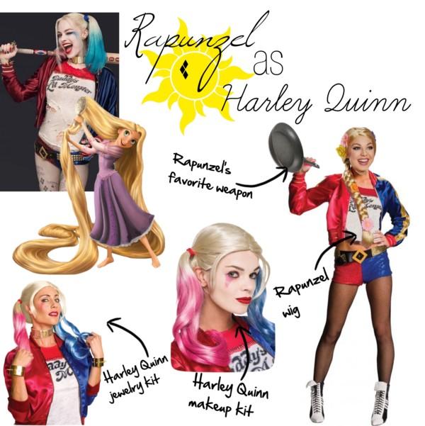 Rapunzel as Harley Quinn Disney Superhero Mashups Villains