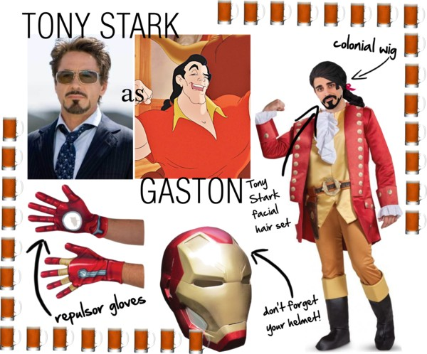 Tony Stark as Gaston Disney Superhero Mashups Villains