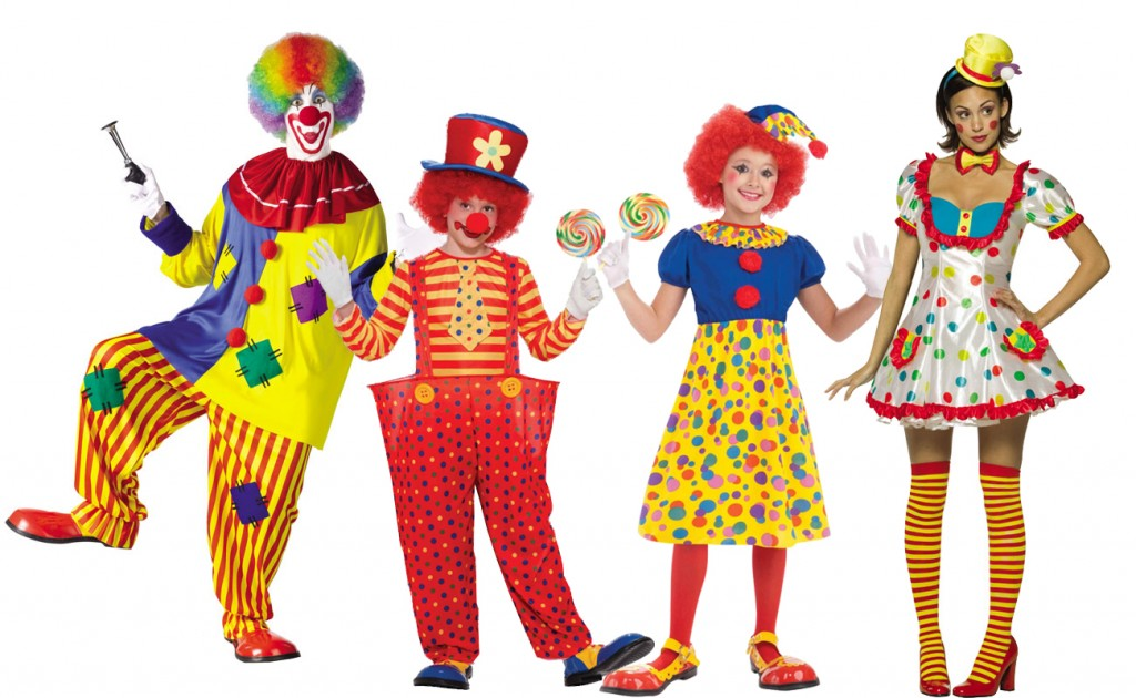what is purim history of clown costumes