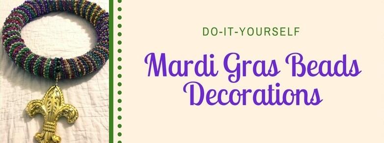 Mardi gras beads decorations crafts diy