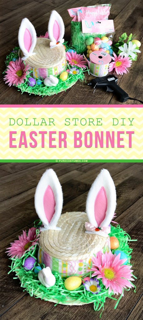 Dollar Store DIY Easter Bonnet