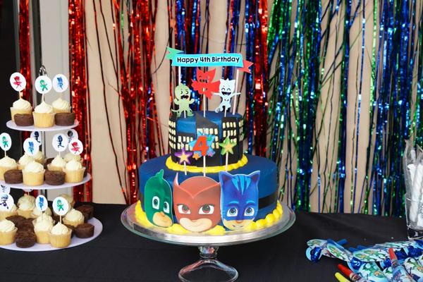 PJ Masks Birthday Party Cake