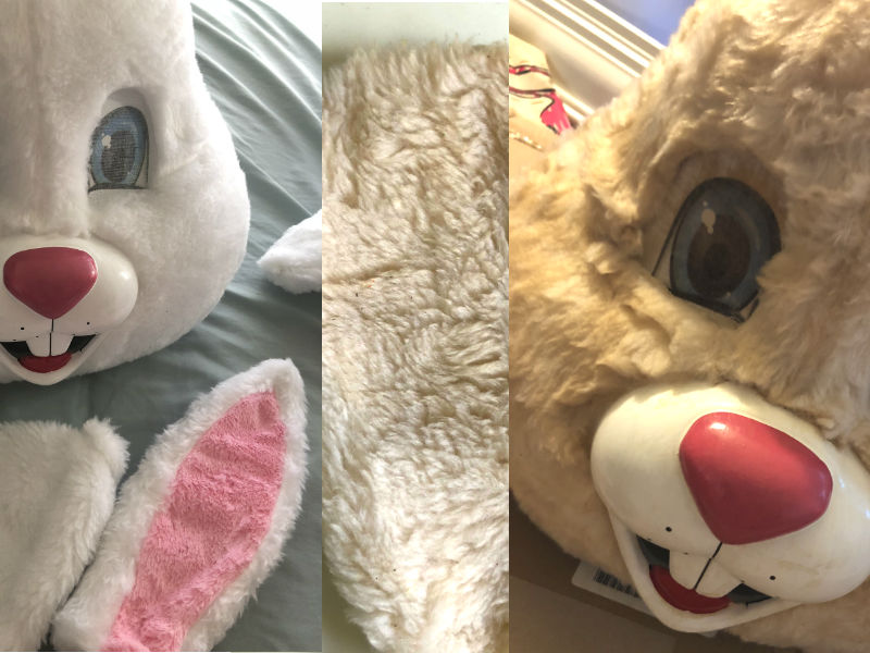 Horror Tutorials Zombie Easter Bunny beore after thins