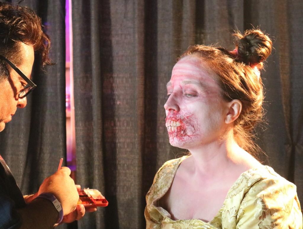 Scare LA 2018 zombie makeup