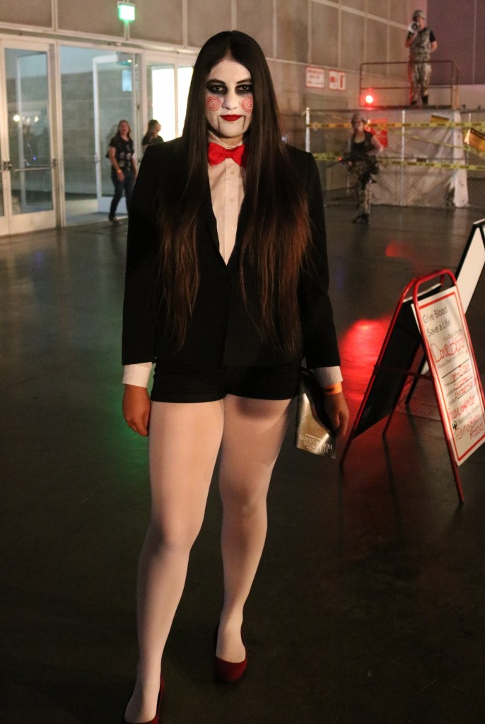 ScareLA 2018 Jigsaw SAW costume
