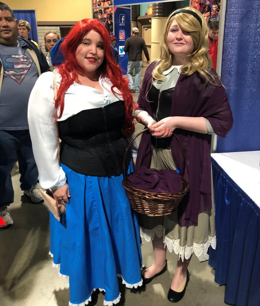 Long Beach Comic Expo 2019 Cosplay Recap Ariel Aurora Sleeping Beauty peasant dresses