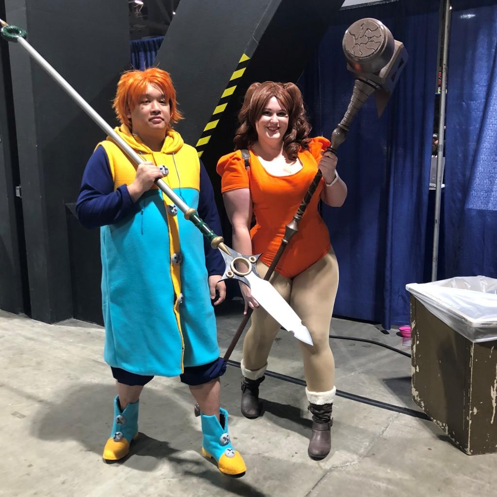 Long Beach Comic Expo 2019 Cosplay Recap King and Diane Seven Deadly Sins