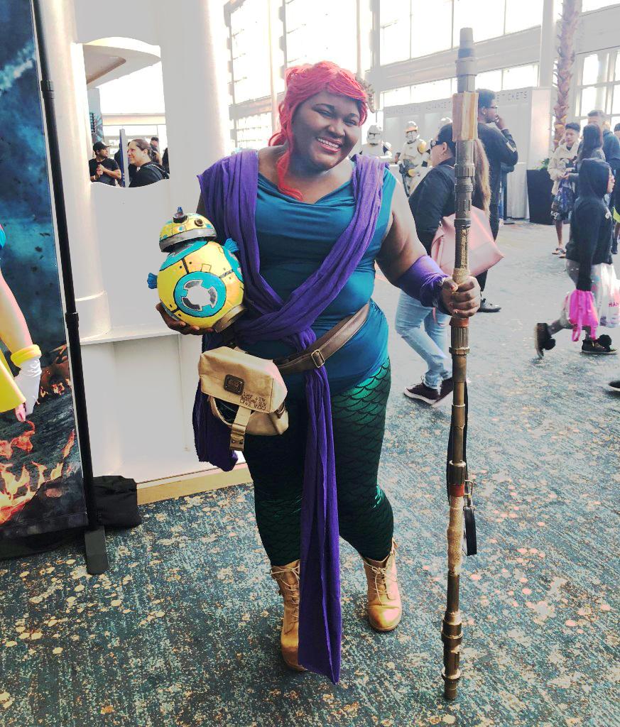 Long Beach Comic Expo 2019 Cosplay Recap Disney Ariel Little Mermaid Rey Star Wars Mashup