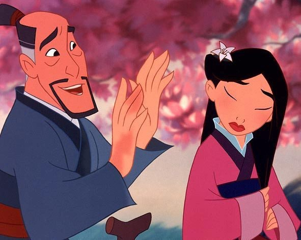 mulan father flower