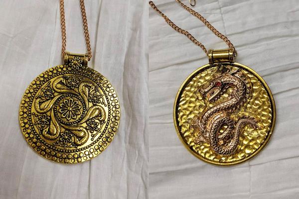 DIY Renaissance Mulan costume-medallions