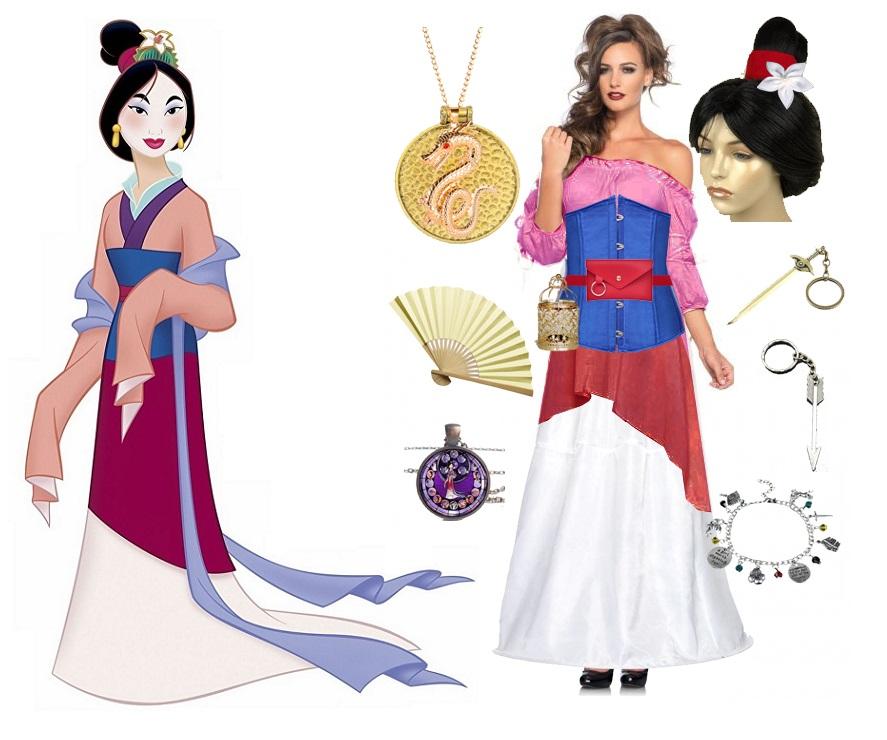 DIY Renaissance Mulan costume vision board