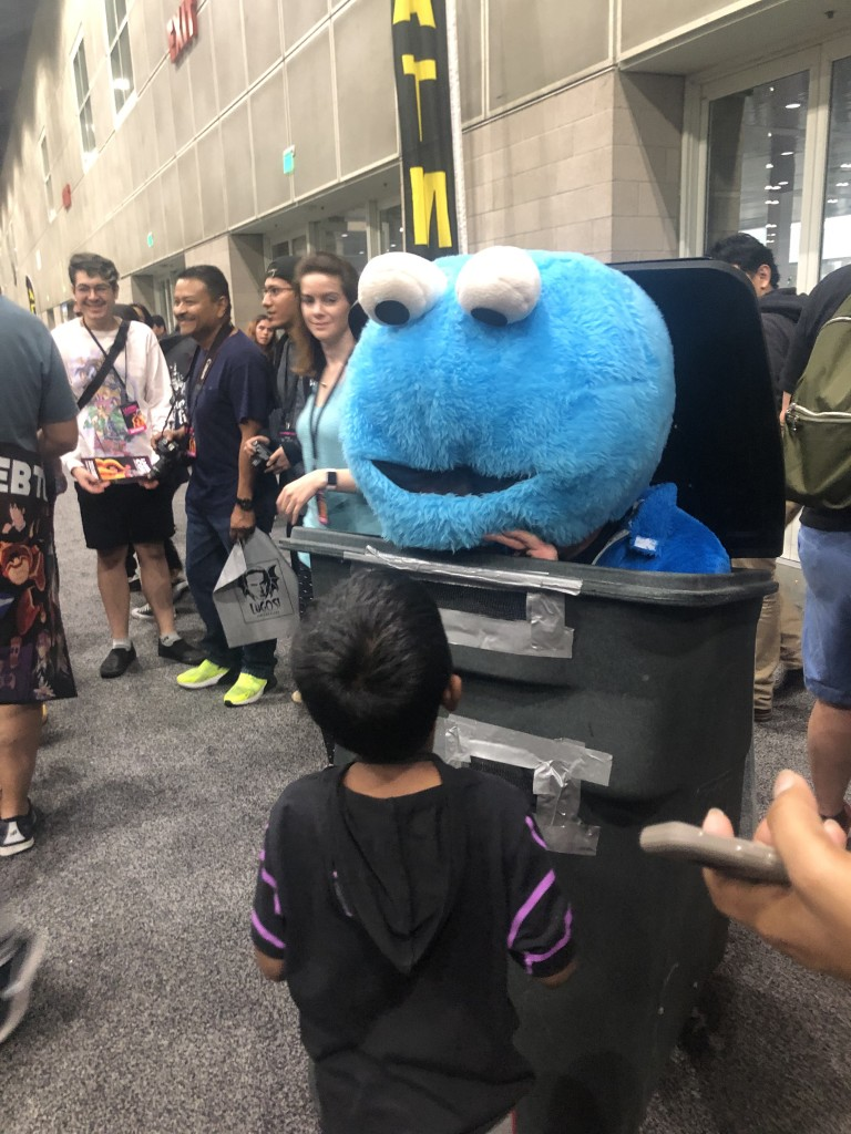 Los Angeles Comic Con Cosplay Recap Cookie Monster Oscar the Grouch Sesame Street