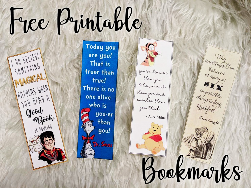 Free Printable Bookmarks RAAD Read Across America Day