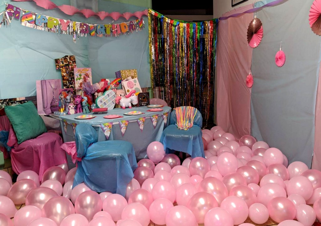 low budget quarantined birthday party unicorn