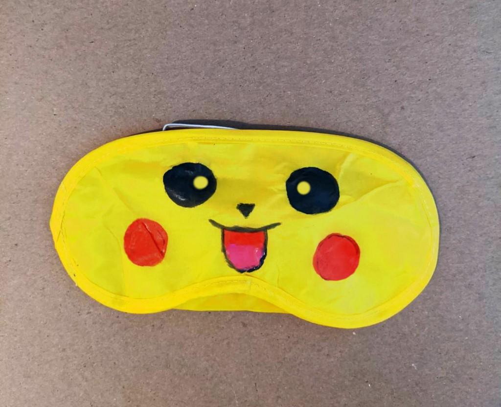 diy kids Character Sleep Masks pikachu 2