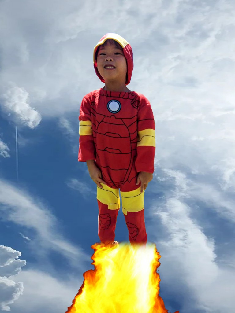 iron man flying Kids Superhero Powers