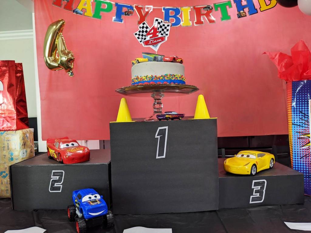 Disney Cars Party podium