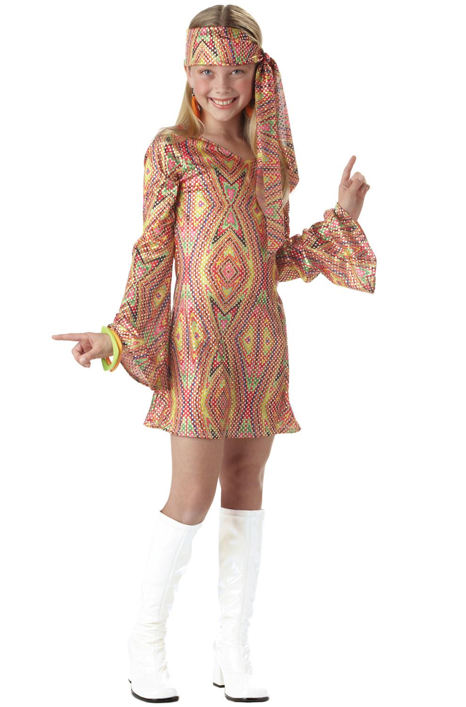 groovy retro disco dolly flower child costume ebay